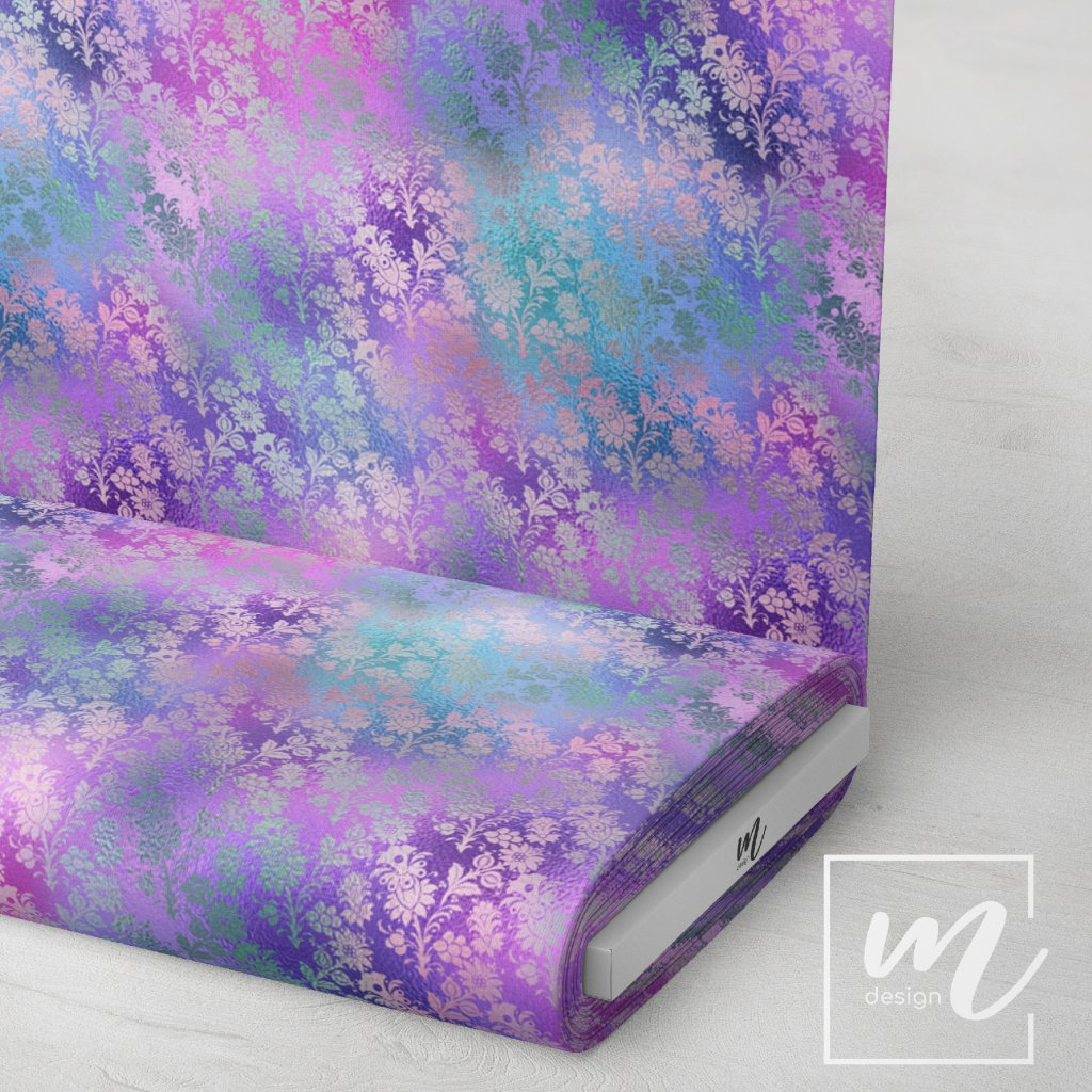 duhový vzor 709002 (vyberte materiál zimní softshell elastický (šíře 150cm) 280g  10000/10000)