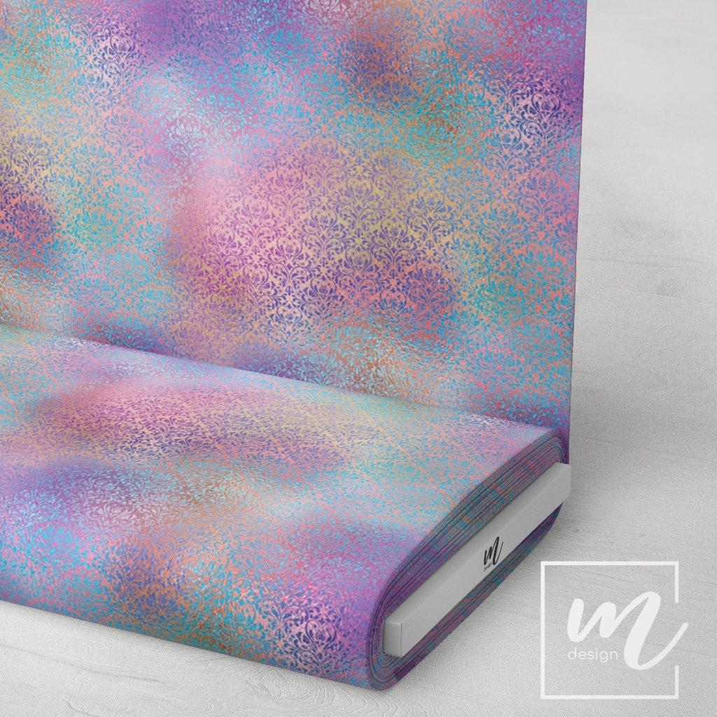 duhový vzor 709003 (vyberte materiál zimní softshell elastický (šíře 150cm) 280g  10000/10000)