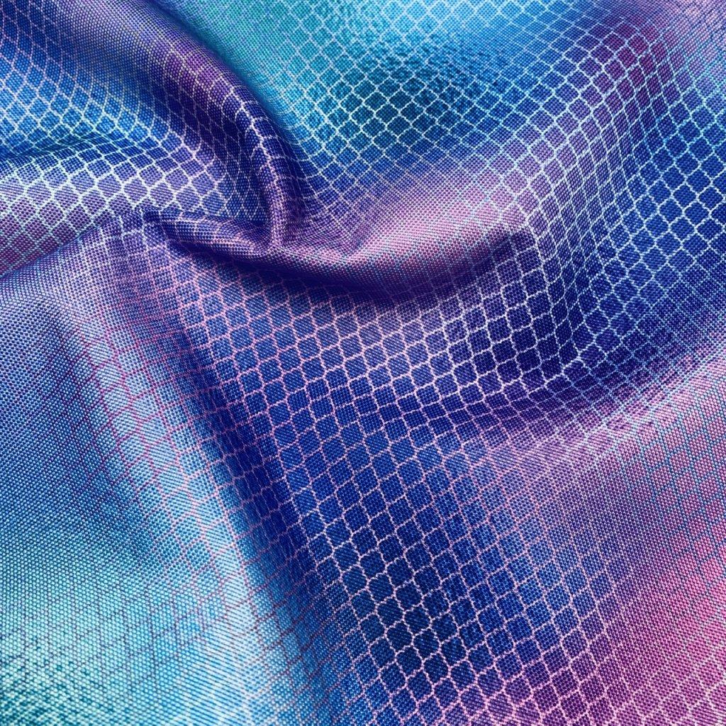 duhový vzor 709007 (vyberte materiál zimní softshell elastický (šíře 150cm) 280g  10000/10000)