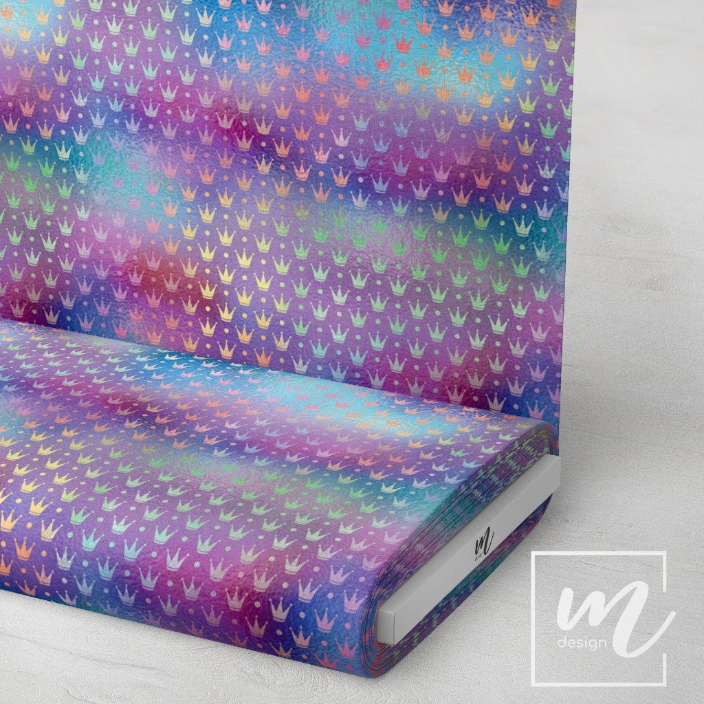 duhový vzor 709012 (vyberte materiál zimní softshell elastický (šíře 150cm) 280g  10000/10000)