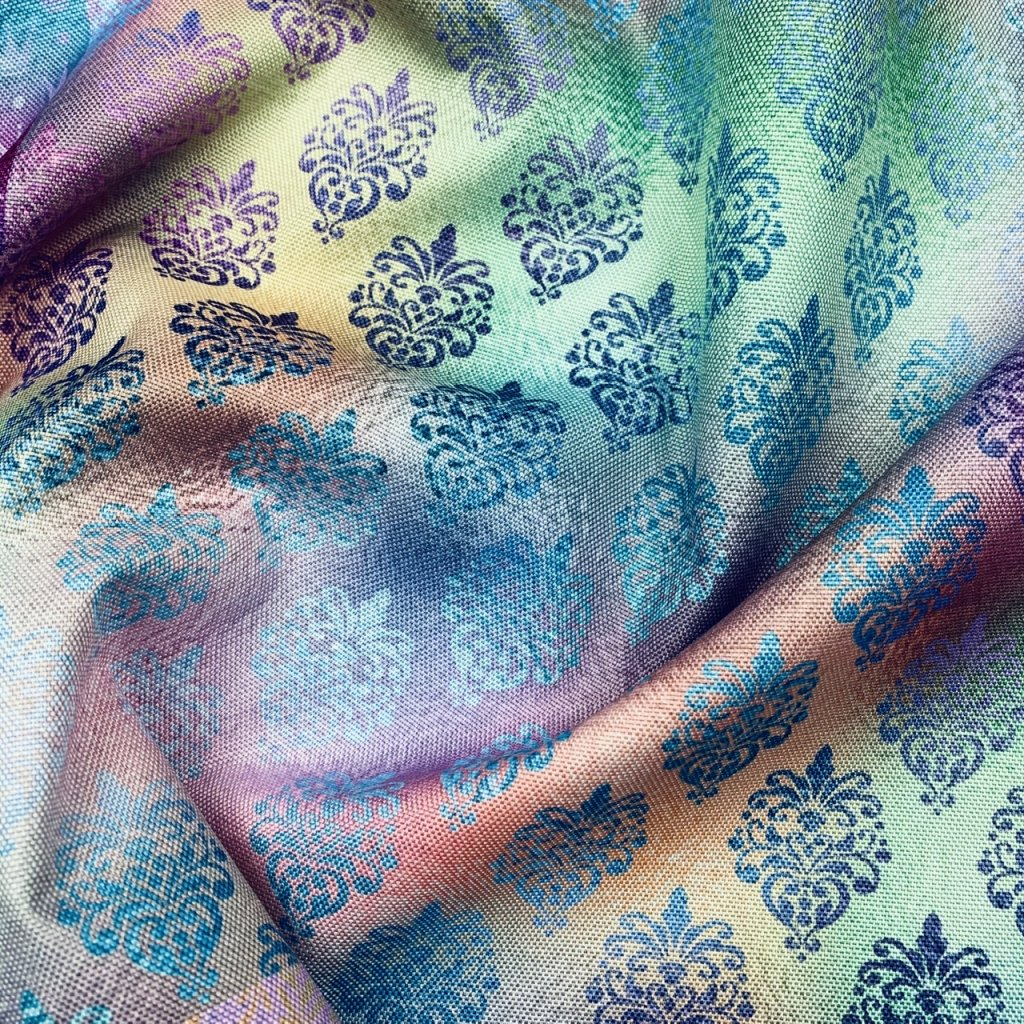 duhový vzor 709013 (vyberte materiál zimní softshell elastický (šíře 150cm) 280g  10000/10000)