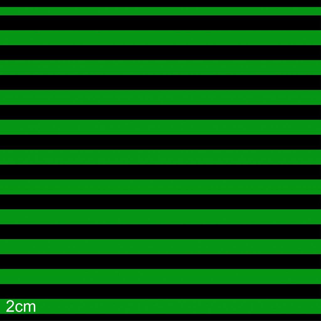 746005 pruhy zeleno černá