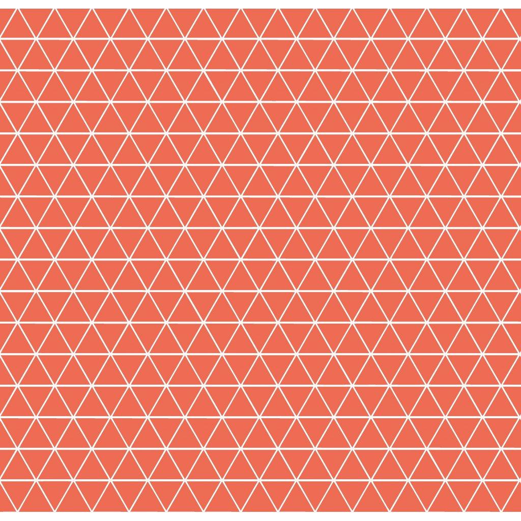 756006 trojúhelníčky oranžová tmavá
