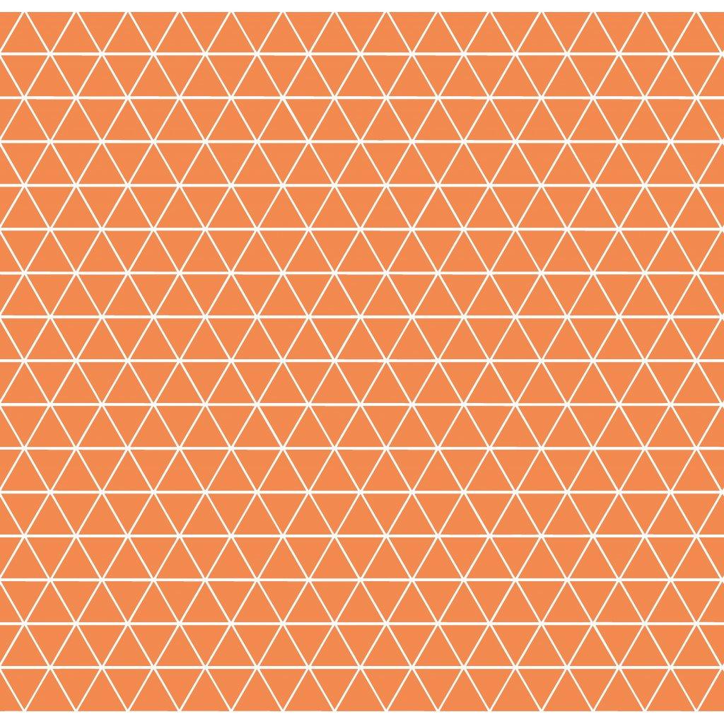 756007 trojúhelníčky oranžová světlá
