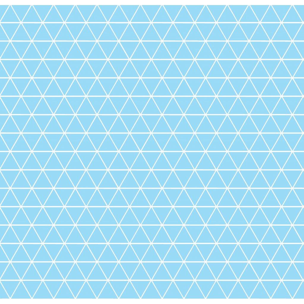 756008 trojúhelníčky světle modrá