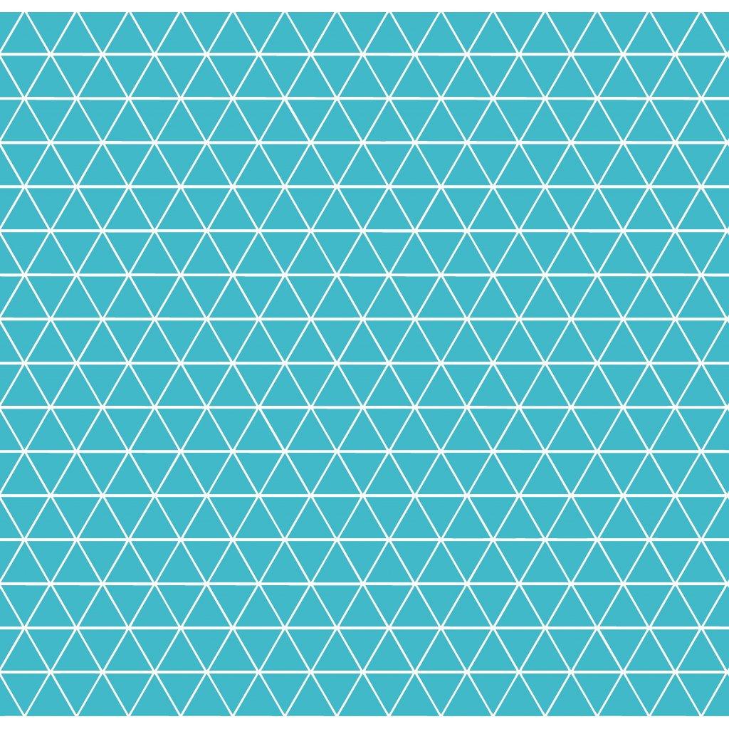 756009 trojúhelníčky tyrkys