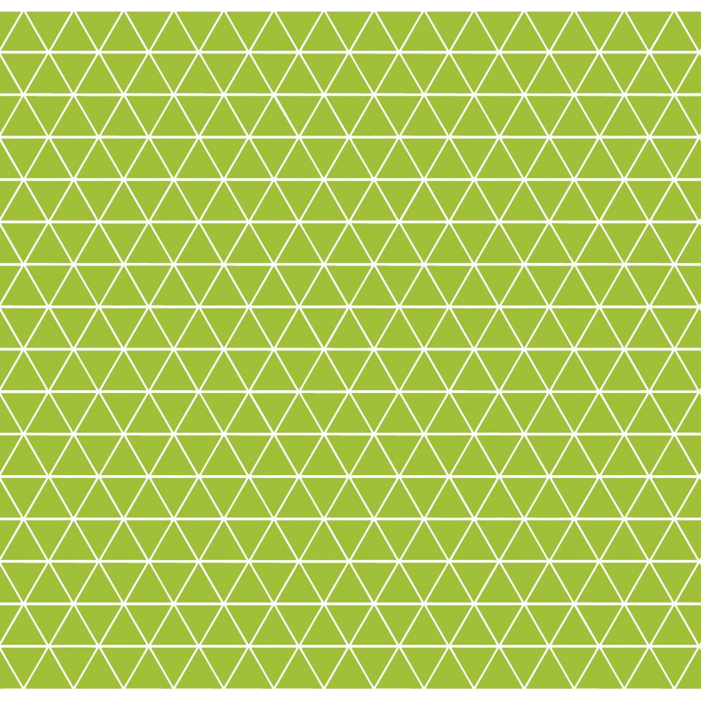 756011 trojúhelníčky zelená