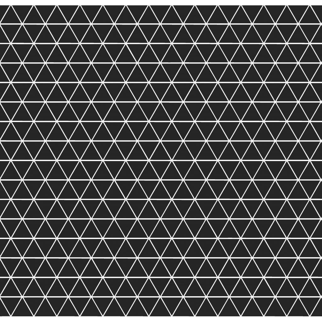756013 trojúhelníčky černá