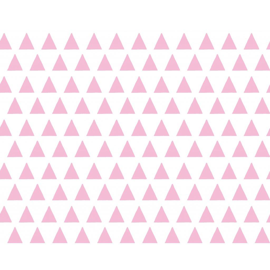 756020 trojúhelníky růžová baby