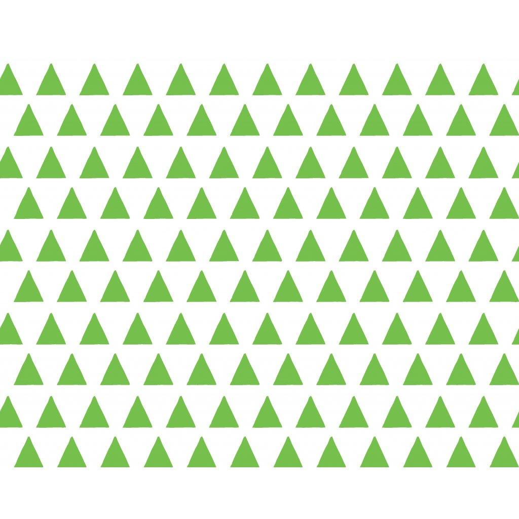 756023 trojúhelníky zelená