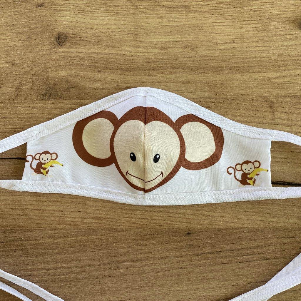 rouška dvouvrstvá dětská opice