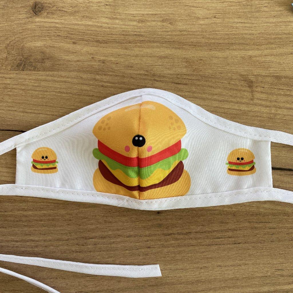 rouška dvouvrstvá dětská hamburger