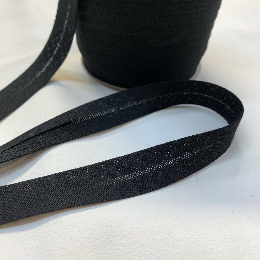 šikmý proužek bavlna 18mm černá