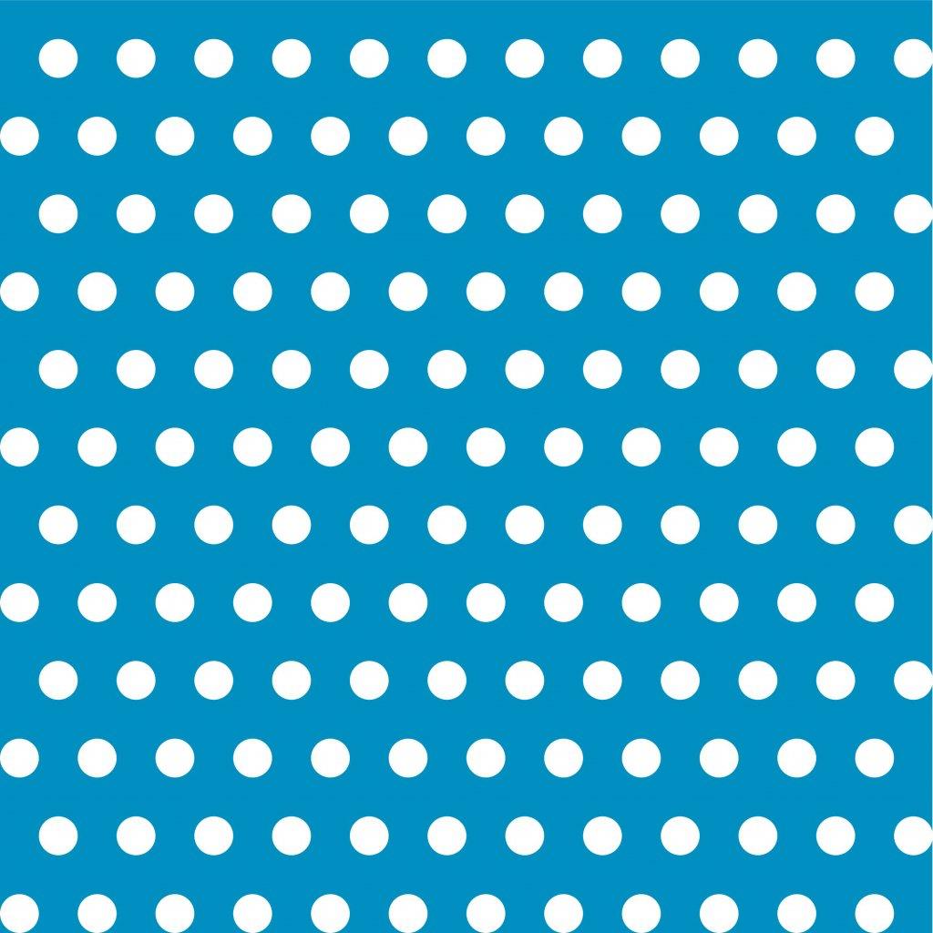 748034 PUNTÍK 1CM bílý na modré