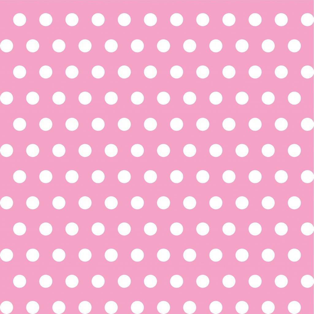 748036 PUNTÍK 1cm bílý na světle růžové dlaždice
