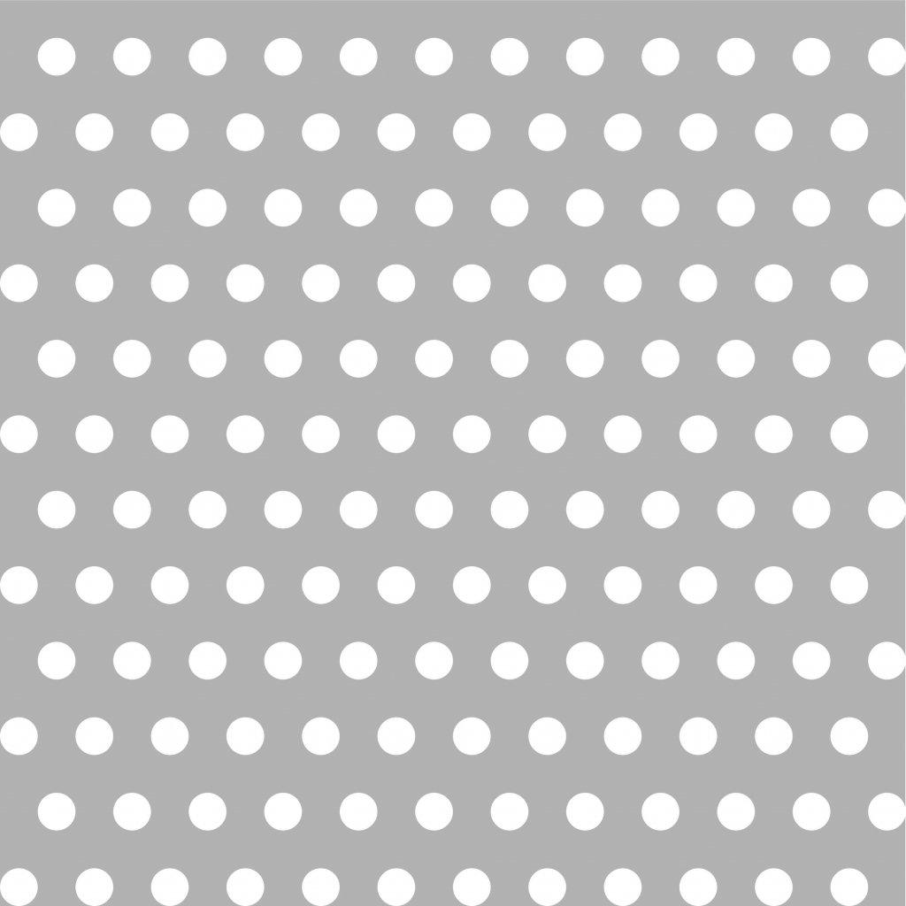 748037 PUNTÍK 1cm bílý na šedé