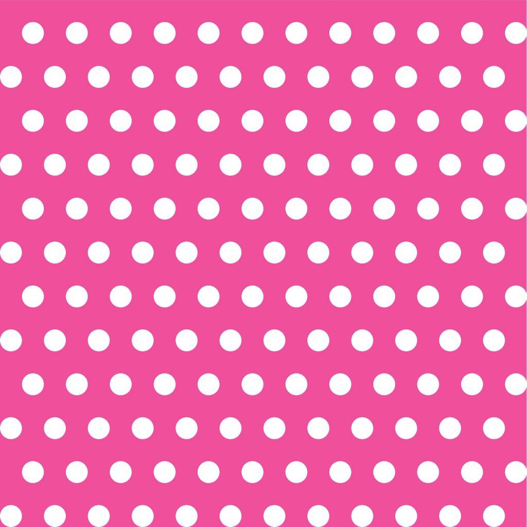 748038 PUNTÍK 1cm bílý na tmavě růžové dlaždice