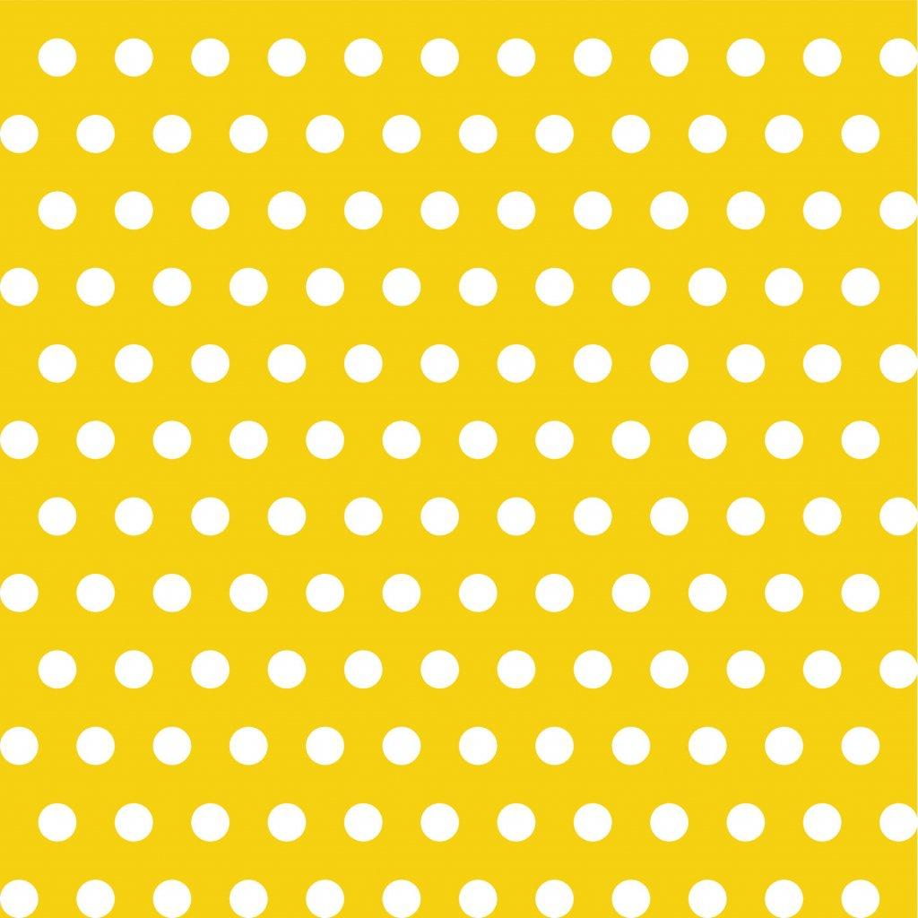 748040 PUNTÍK 1cm bílý na žluté dlaždice