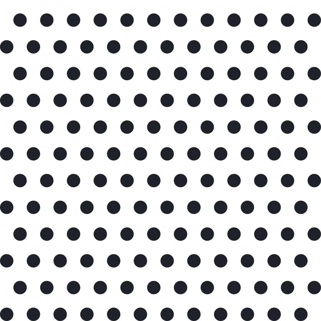 748041 PUNTÍK 1cm černý na bílé