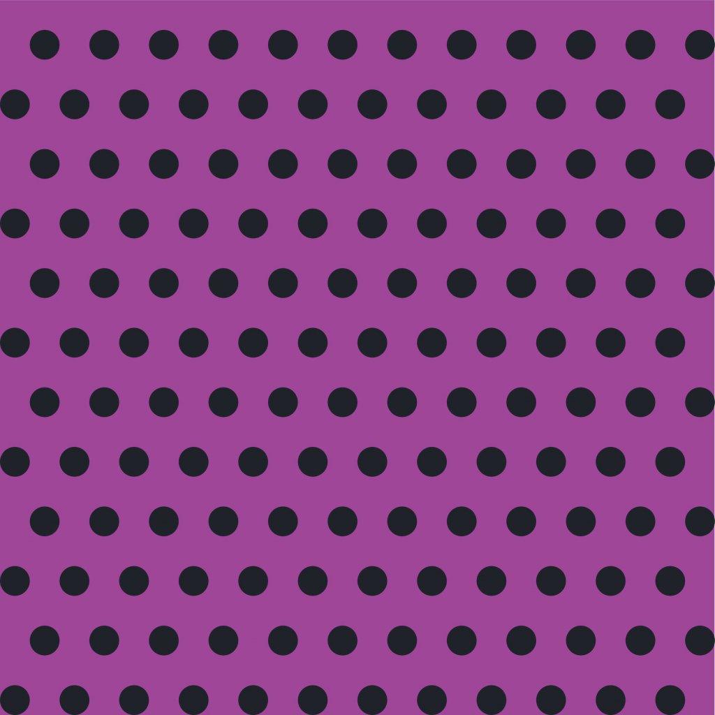 748043 PUNTÍK 1cm černý na fialové