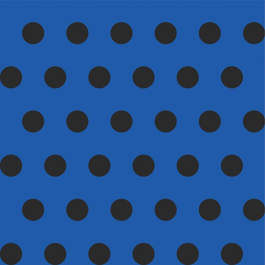 748062 PUNTÍK 2cm černý na modré