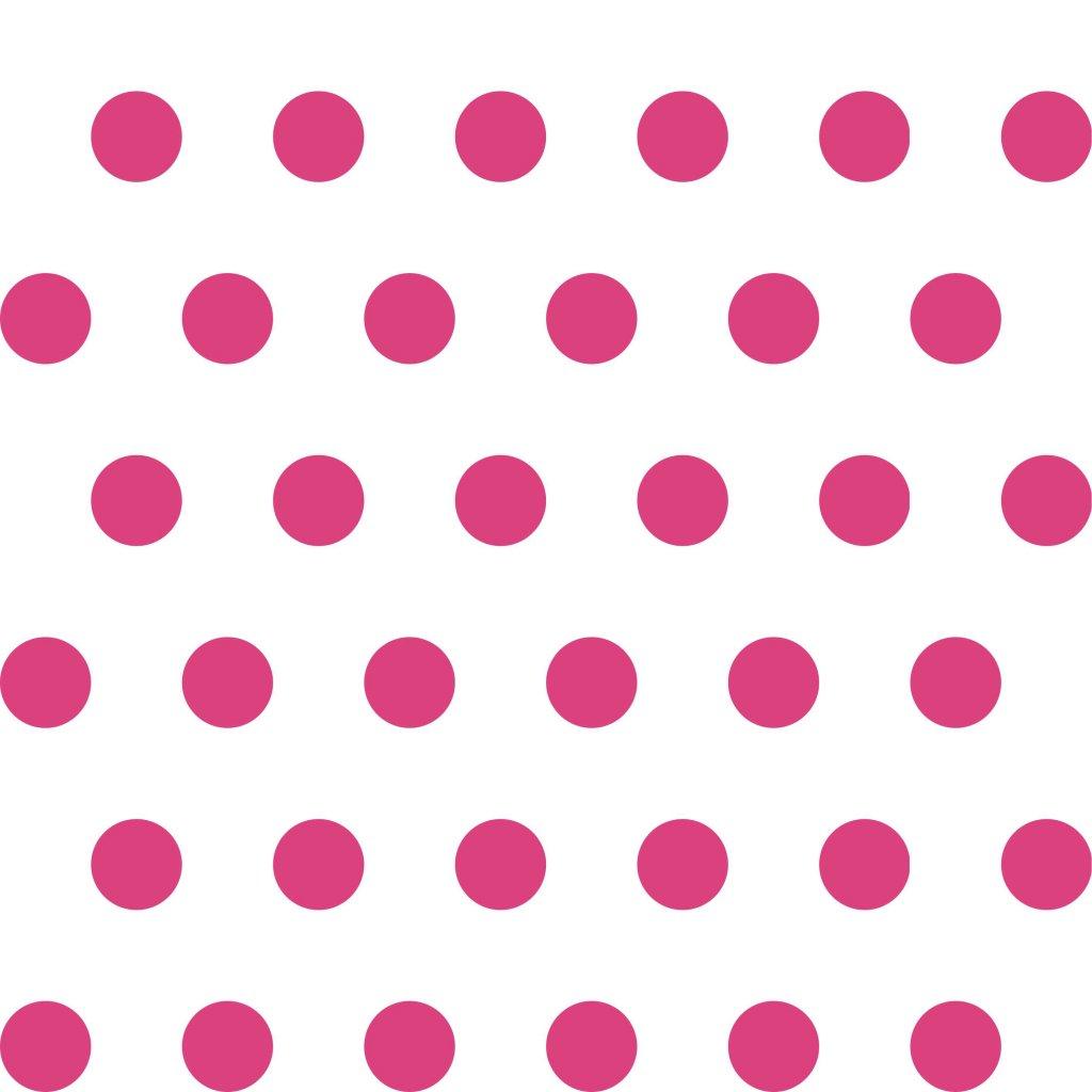 748063 PUNTÍK 2cm růžový na bílé DLAŽDICE
