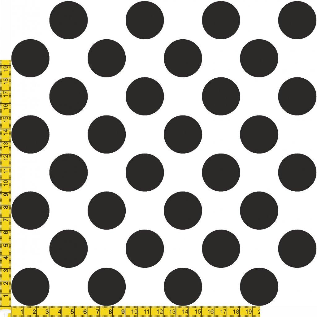 748091 PUNTÍK 3cm šedý na černé