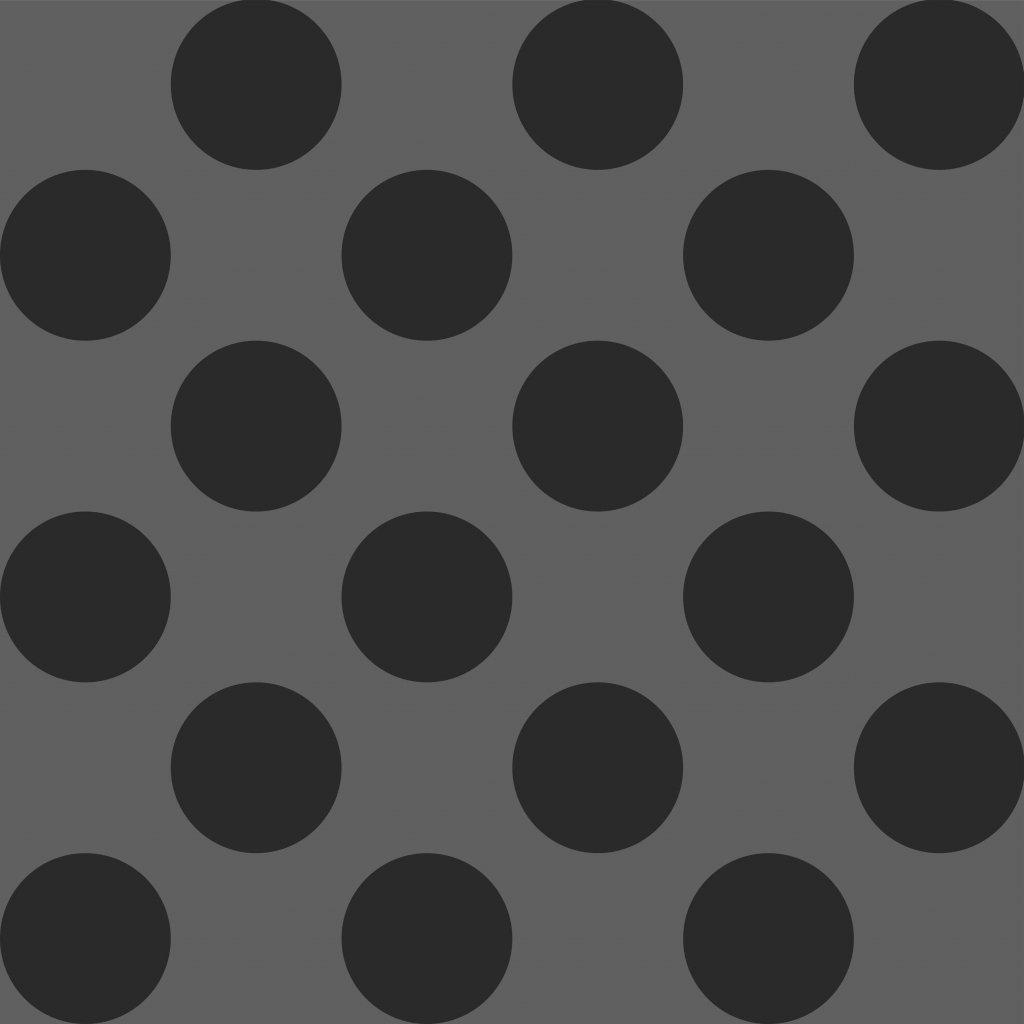 748122 PUNTÍK 5cm černý na tmavě šedé DLAŽDICE