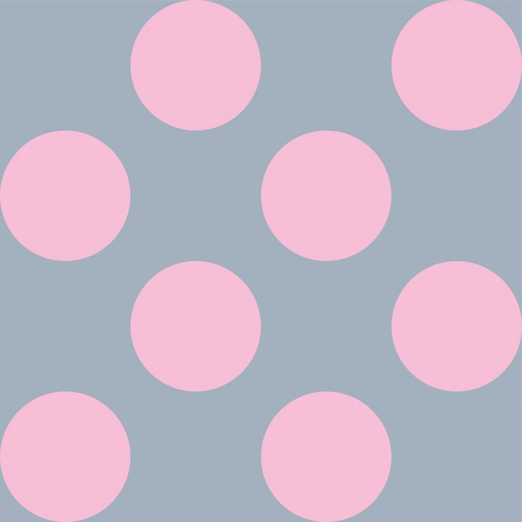 748150 PUNTÍK 10cm růžový na šedé