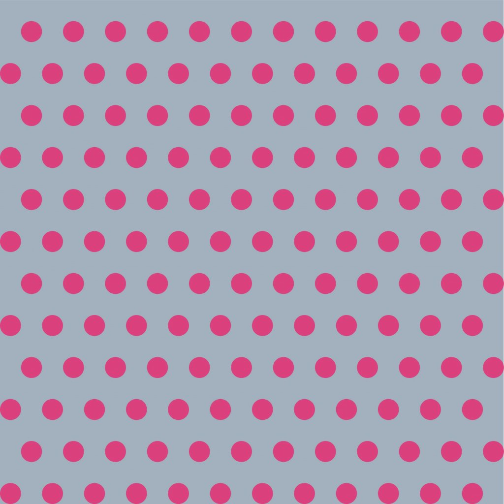 748045 PUNTÍK 1cm růžový na šedé