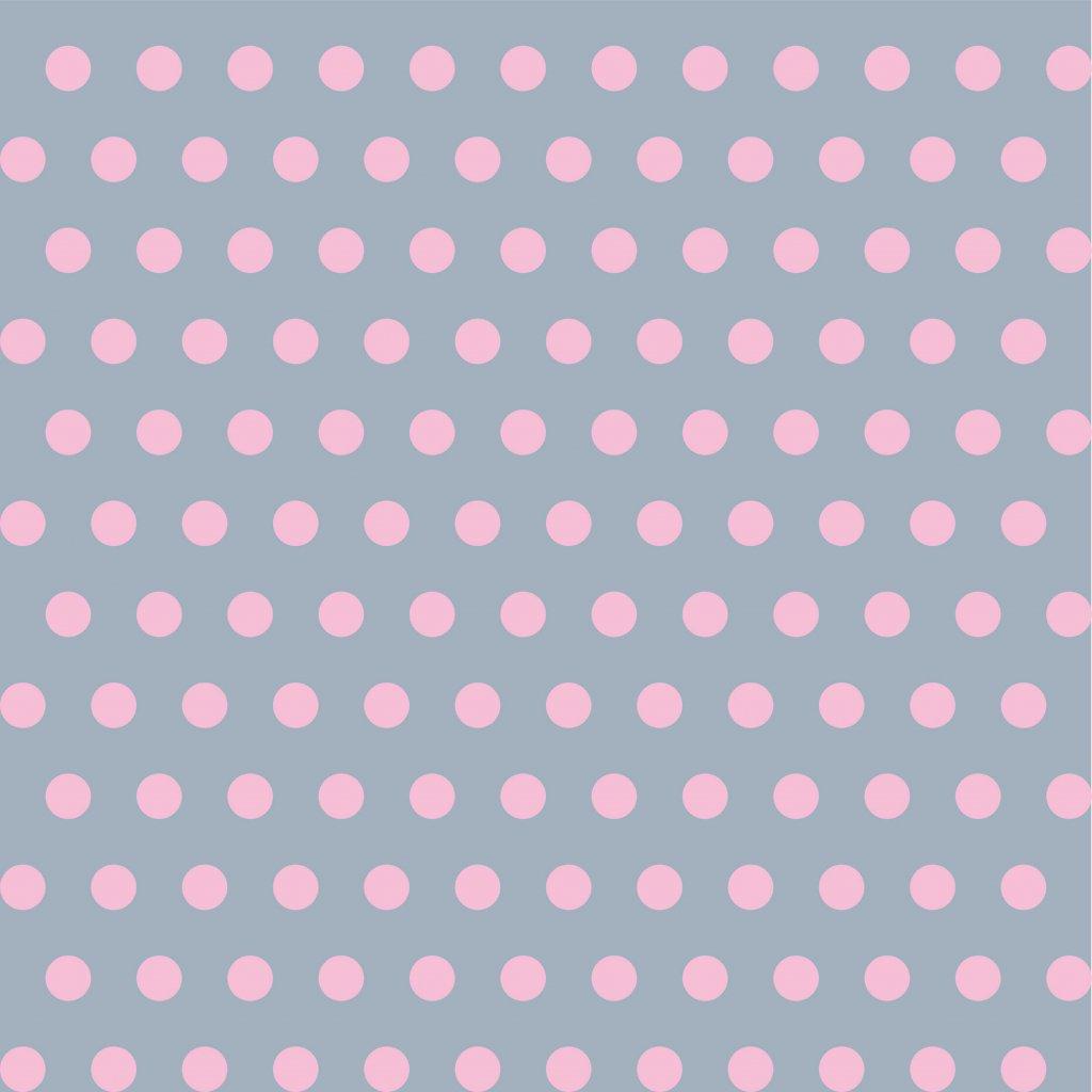 748046 PUNTÍK 1cm růžový baby na šedé