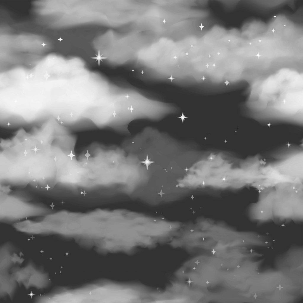 760019 nebe s mraky černé