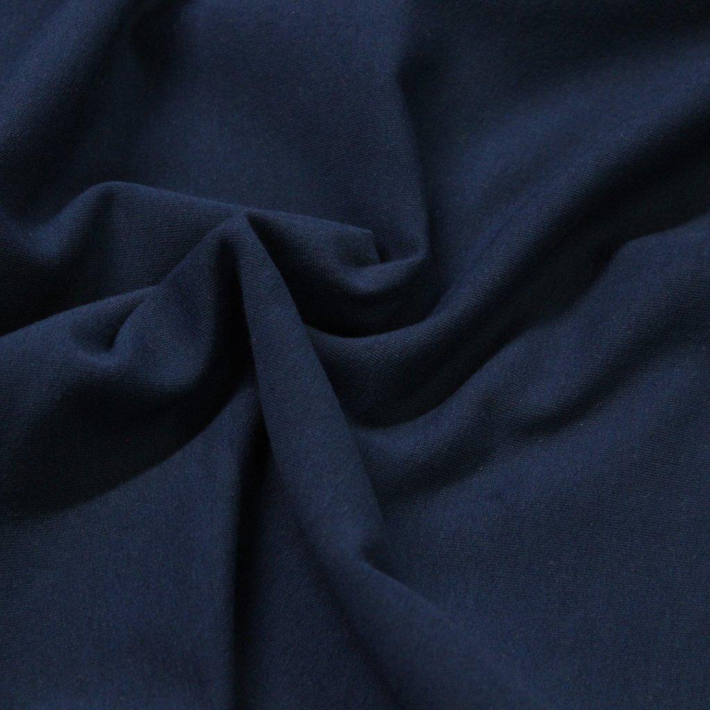 teplákovina nepočesaná 340g - modrá navy