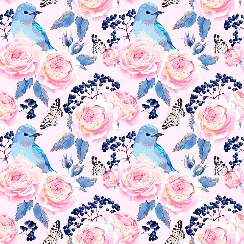 726055 růže a modří ptáčci 2