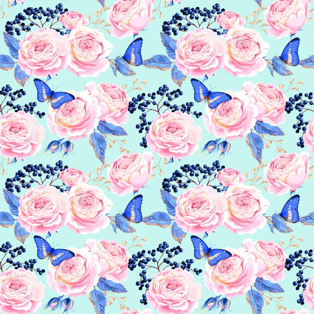 726055 růže a modří motýlci 1