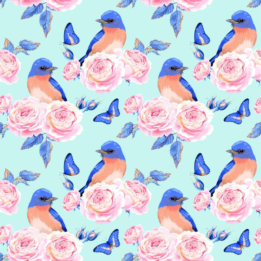 726057 růže a modří ptáčci 4