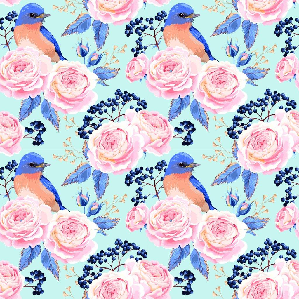 726058 růže a modří ptáčci
