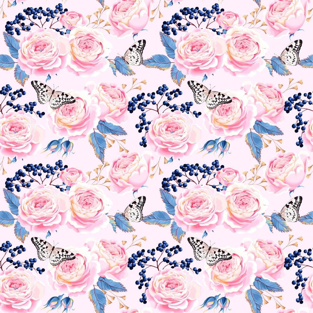 726059 růže a motýlci