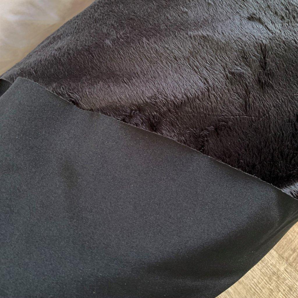 zimní softshell s kožíškem ČERNÝ