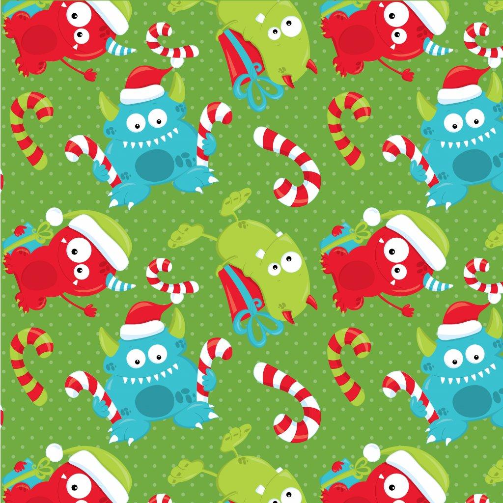 758014 vánoční příšerky na zelené