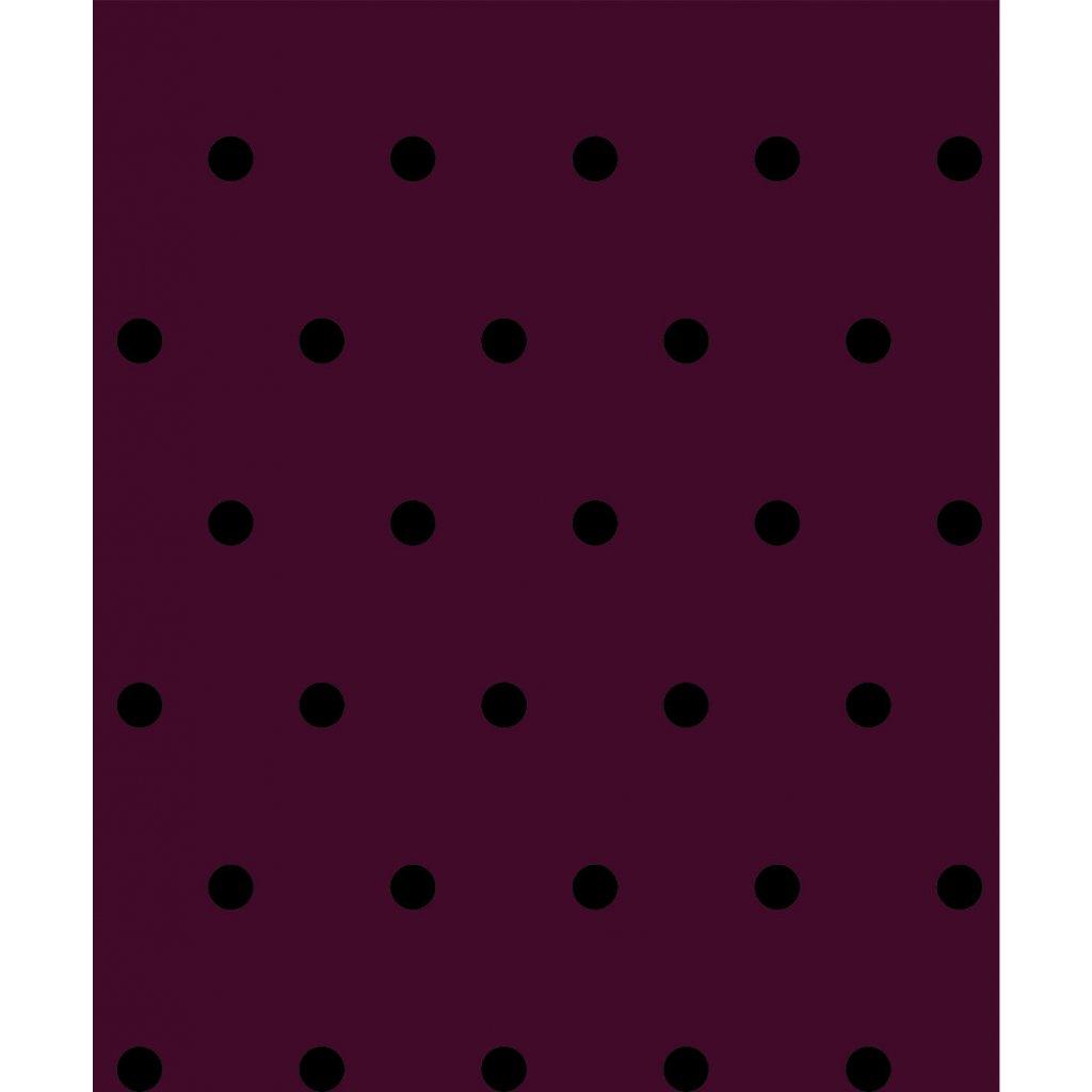 748011 puntík černý na vínové