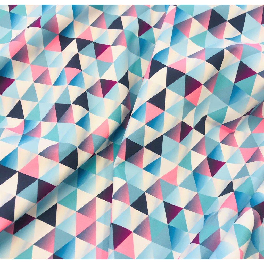 duhové trojúhelníky 756001 (vyberte materiál zimní softshell elastický (šíře 150cm) 280g  10000/10000)