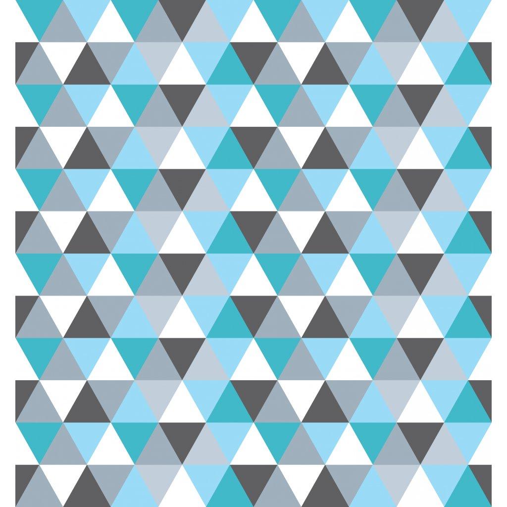 756035 trojúhelníky šedo tyrkys
