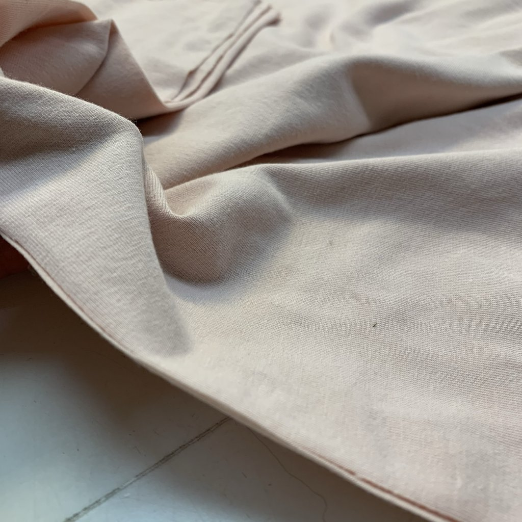 bavlněný úplet s elastanem 200g - pudrově růžová