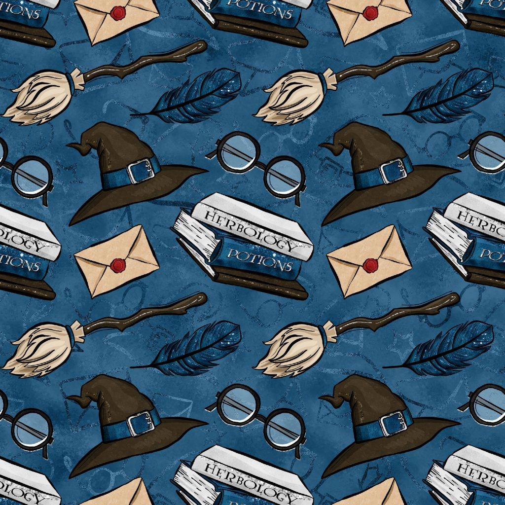 škola kouzel na modré 723037 (vyberte materiál zimní softshell elastický (šíře 150cm) 280g  10000/10000)