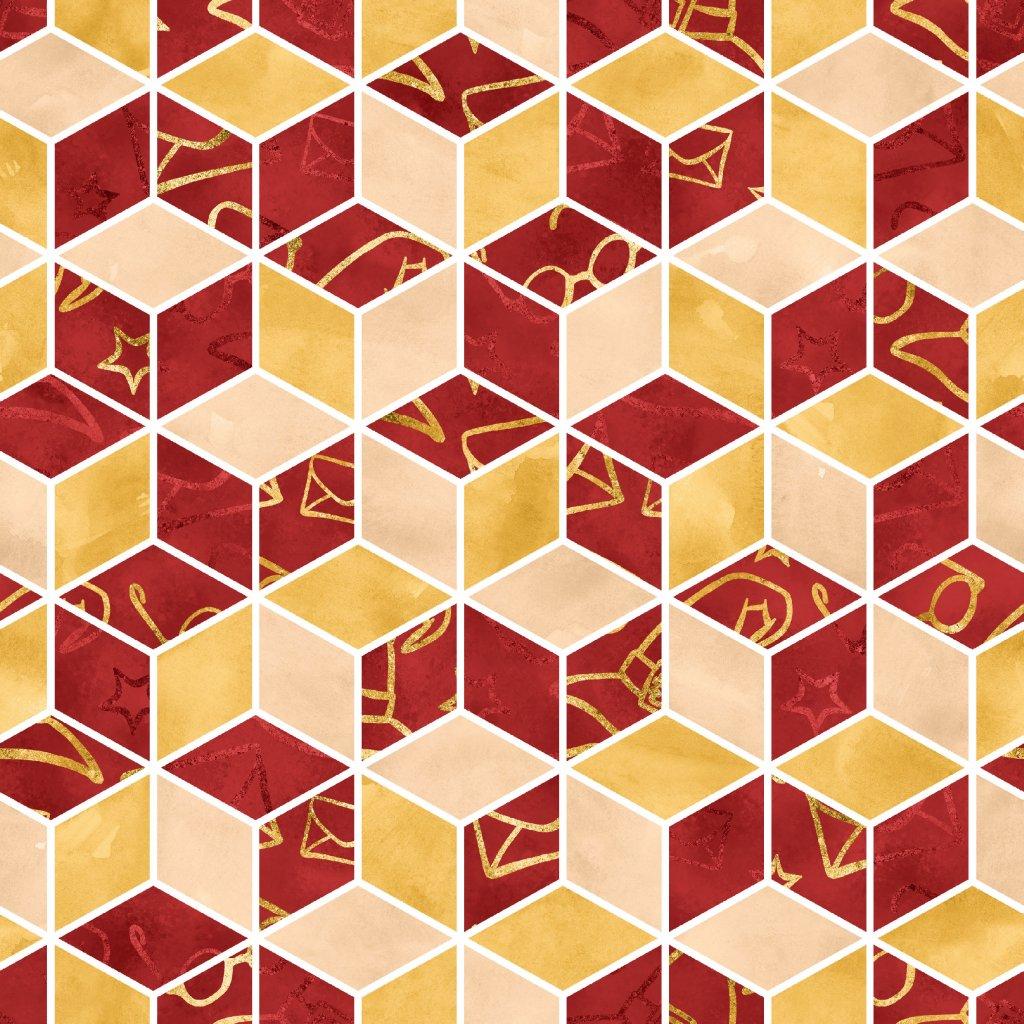 škola čar a kouzel červená doplňková 723007 (vyberte materiál zimní softshell elastický (šíře 150cm) 280g  10000/10000)