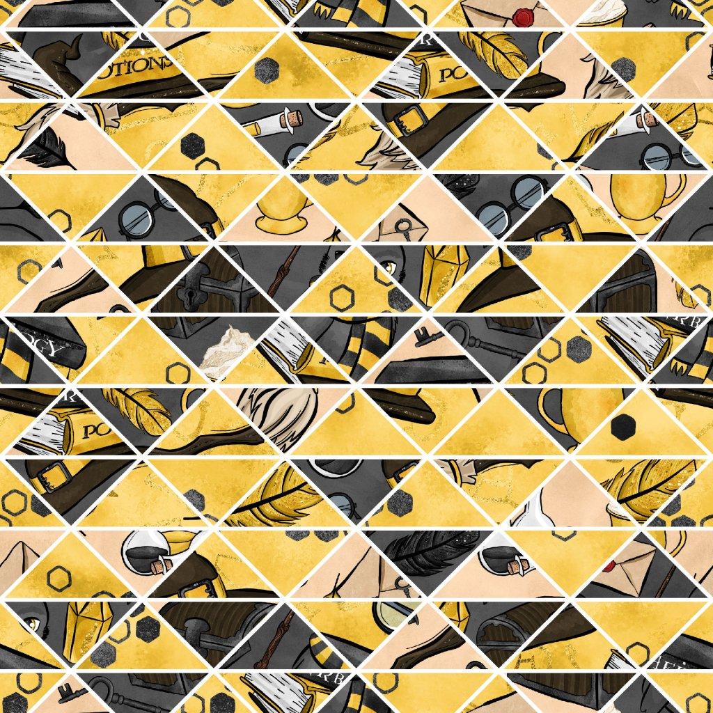 škola čar a kouzel žlutá doplňková 723018 (vyberte materiál zimní softshell elastický (šíře 150cm) 280g  10000/10000)