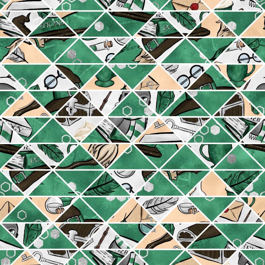 škola čar a kouzel zelená doplňková 723030 (vyberte materiál zimní softshell elastický (šíře 150cm) 280g  10000/10000)