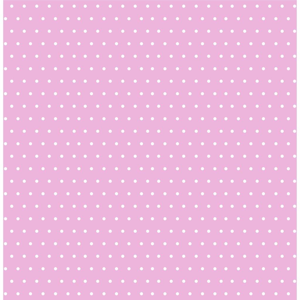 puntík 2mm bílý na světle růžové