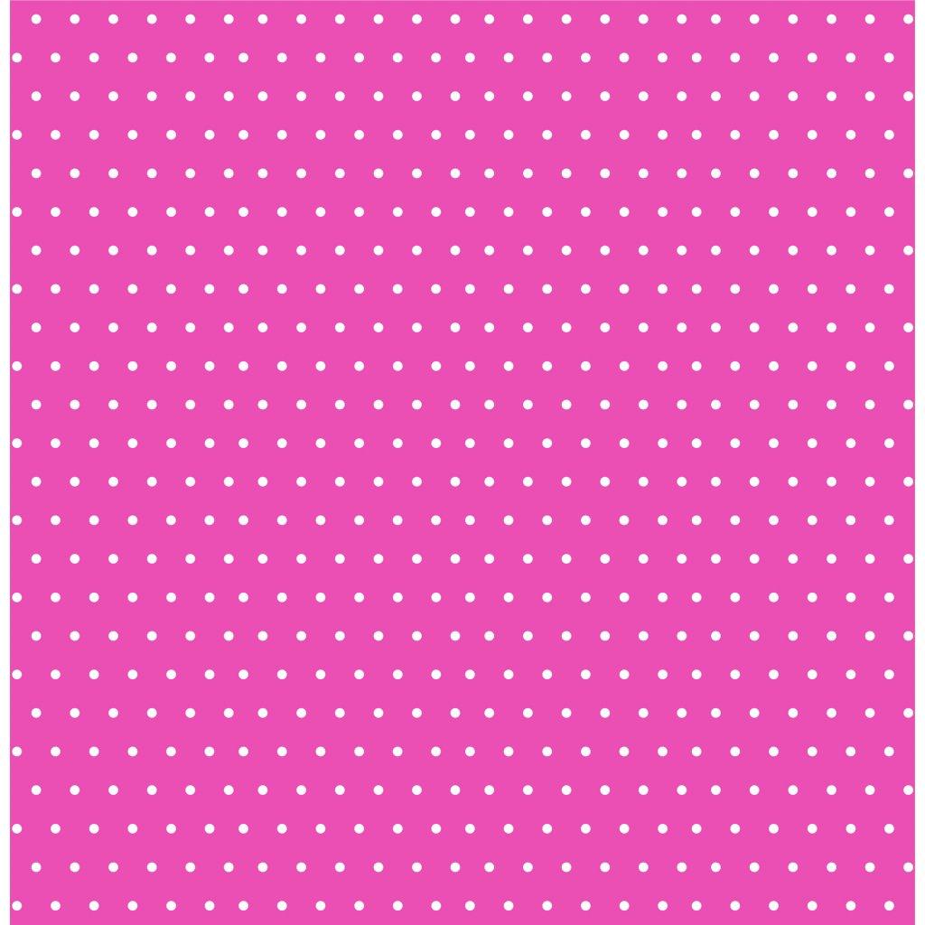puntík 2mm bílý na tmavě růžové